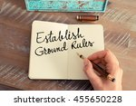 handwritten text establish... | Shutterstock . vector #455650228