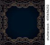 vector vintage border frame... | Shutterstock .eps vector #455656252