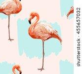 beautiful seamless vector... | Shutterstock .eps vector #455657032