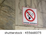 the plate smoking is forbidden.