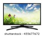 4k monitor isolated on white | Shutterstock . vector #455677672