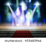 stage lighting background 3d... | Shutterstock . vector #455683966