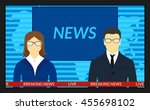 vector illustration.tv screen... | Shutterstock .eps vector #455698102