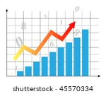 business chart with arrow   Shutterstock .eps vector #45570334
