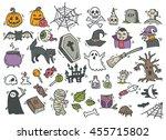 cartoon halloween doodle  | Shutterstock .eps vector #455715802