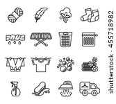 laundry icons. housework icons. ... | Shutterstock .eps vector #455718982