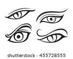 eye tattoo  vector | Shutterstock .eps vector #455728555