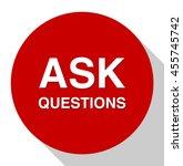 ask questions button   Shutterstock .eps vector #455745742