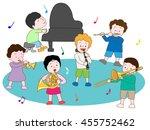 the concert of children. | Shutterstock .eps vector #455752462