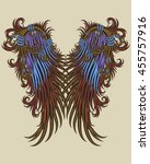 colored wings with pattern...   Shutterstock .eps vector #455757916