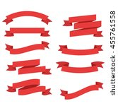 red ribbon banners vector... | Shutterstock .eps vector #455761558