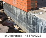 waterproofing foundation walls. ... | Shutterstock . vector #455764228