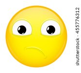 sad emoji. bad emotion. hurt... | Shutterstock .eps vector #455776312