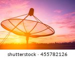 Silhouette Of Satellite Dish A...