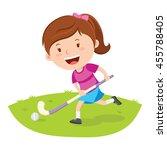 hockey player. vector... | Shutterstock .eps vector #455788405