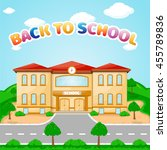 illustration of school building ... | Shutterstock .eps vector #455789836