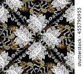 vintage pattern on black... | Shutterstock .eps vector #455790955
