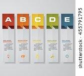 design clean number banners... | Shutterstock .eps vector #455791795