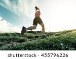 healthy young woman trail... | Shutterstock . vector #455796226