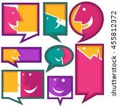 vector collection of talking ... | Shutterstock .eps vector #455812372