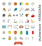 summer sports events filled... | Shutterstock .eps vector #455822656