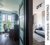 modern design apartment with...   Shutterstock . vector #455829862
