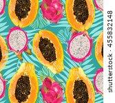 bright  juicy  color  summer ... | Shutterstock .eps vector #455832148