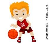 vector illustration of a boy... | Shutterstock .eps vector #455832376