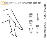 hair removal and epilation icon ... | Shutterstock .eps vector #455844988