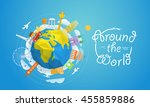 world famous signs abstract... | Shutterstock .eps vector #455859886