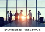 silhouettes of business people... | Shutterstock . vector #455859976
