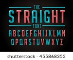 vector of stylized bold font... | Shutterstock .eps vector #455868352