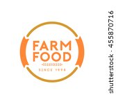 farm food badge and logo | Shutterstock .eps vector #455870716