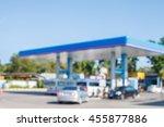 petrol stations blurred focus | Shutterstock . vector #455877886