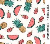 tropical summer print for t... | Shutterstock .eps vector #455881366