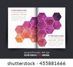 polygonal hexagon frames bi... | Shutterstock .eps vector #455881666