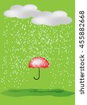 umbrella in the rain   Shutterstock .eps vector #455882668