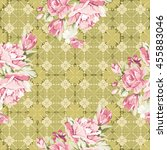 seamless floral pattern with... | Shutterstock .eps vector #455883046