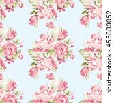 seamless floral pattern with... | Shutterstock .eps vector #455883052