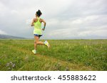 healthy lifestyle young woman... | Shutterstock . vector #455883622