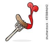 cartoon hotdog and ketchup | Shutterstock . vector #455884642