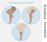 medical compression hosiery for ... | Shutterstock .eps vector #455893156