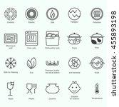 symbols of food grade metal... | Shutterstock .eps vector #455893198