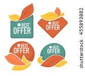 the best offer  super sale ... | Shutterstock .eps vector #455893882