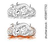 happy halloween wording on... | Shutterstock .eps vector #455897752