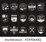 stamps for outdoors camp.... | Shutterstock .eps vector #455906482