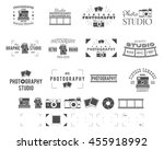 photography logo templates set. ... | Shutterstock .eps vector #455918992