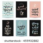 set of modern calligraphic... | Shutterstock .eps vector #455932882