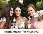 beautiful  girls in the summer... | Shutterstock . vector #455936392
