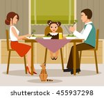 the illustration on a family... | Shutterstock .eps vector #455937298